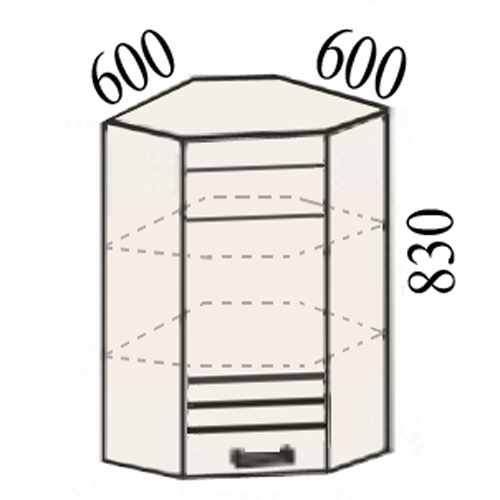 Купить шкаф 16.20 (600х600х830) - off-mebell.